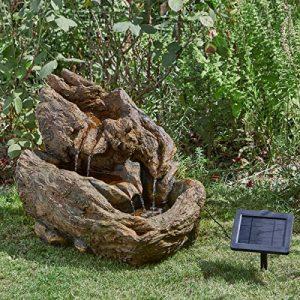 Fontaine Solaire à Eau Imitation Pierre en Résine 45cm Énergie Solaire Sans Fil de la marque Smart Garden image 0 produit