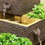 Fontaine Solaire Jardinière 4 Niveaux -Bois Fonce de la marque Primrose image 2 produit