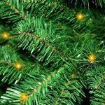 Forever Green 958935 auburn sapin de noël artificiel hauteur 180 cm diamètre : 124 cm, en pVC avec 200 ampoules, lED, 520 aiguilles avec support vert de la marque Forever Green image 1 produit