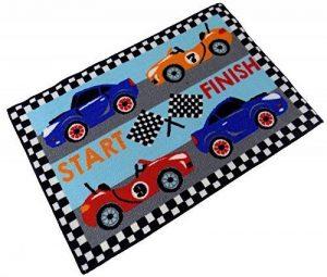 Formule 1One voitures de course drapeaux Noir Rouge Bleu épais tapis de chambre à coucher Tapis antidérapant 60x 90cm 61x 91,4cm de la marque Beam image 0 produit