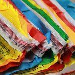 Fournitures souffre bouddhiste écritures Sagesse Soie prière Drapeau drapeaux de l'extension de la vie religieuse 21drapeaux/bande 5metres de long de la marque Dollbling image 1 produit