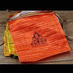 Fournitures souffre bouddhiste écritures Sagesse Soie prière Drapeau drapeaux de l'extension de la vie religieuse 21drapeaux/bande 5metres de long de la marque Dollbling image 2 produit