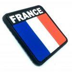France Drapeau Tricolore Français Airsoft PVC Patch de la marque Patch Nation image 1 produit
