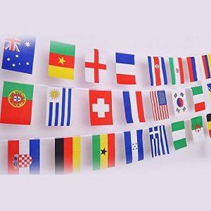 G2Plus Banderole de 12.5m avec les drapeaux de 50pays Décoration parfaite pour bar, fête, festival, clubs de sport, 50 Länder Fahnen de la marque G2PLUS image 0 produit