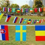 G2Plus Banderole de 12.5m avec les drapeaux de 50pays Décoration parfaite pour bar, fête, festival, clubs de sport, 50 Länder Fahnen de la marque G2PLUS image 1 produit