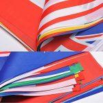 G2PLUS Lot Intermational drapeaux fanions, monde Pays Bannière avec différents drapeaux nationaux 14cm * 21cm pour les fans de football Rugby Présentation cas, 32 FIFA World Flags de la marque G2PLUS image 2 produit