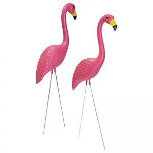 Gaeruite 2Pcs Flamant Rose en Plastique Flamingo Décoration de Jardin Pelouse Ornements de la marque gaeruite image 0 produit