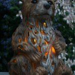 Garden Animals Collection Baxtor l'ours lumière solaire de jardin Ornement/Statue de la marque Garden Animals Collection image 1 produit