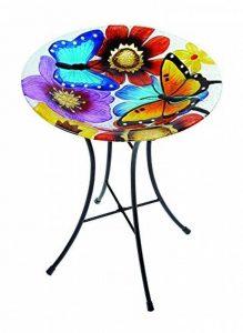 Gardman A04375 Bain D'oiseaux Papillon en Verre Multicolore 11 x 40 x 46 cm de la marque Gardman image 0 produit