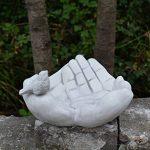 gartendekoparadies.de 'Abreuvoir pour oiseaux de gamelle mains avec oiseau en en pierre au gel de la marque gartendekoparadies.de image 3 produit