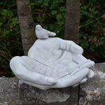 gartendekoparadies.de 'Abreuvoir pour oiseaux de gamelle mains avec oiseau en en pierre au gel de la marque gartendekoparadies.de image 4 produit