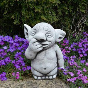 gartendekoparadies.de 'Massive Pierre Figurine troll nez Foret Gnome Lutin Kobold en pierre au gel de la marque gartendekoparadies.de image 0 produit