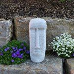 Gartendekoparadies. de massive Pierre Statue Moaï île de Élément de décoration en pierre Résiste au gel de la marque gartendekoparadies.de image 1 produit