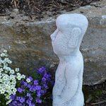 gartendekoparadies.de pierre massive Moai statue de l'île de Pâques Décoration Element en pierre Fonte au gel de la marque gartendekoparadies.de image 2 produit
