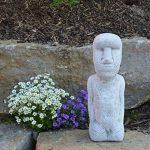 gartendekoparadies.de pierre massive Moai statue de l'île de Pâques Décoration Element en pierre Fonte au gel de la marque gartendekoparadies.de image 3 produit