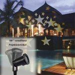 GAXmi LED Lumière d'inondation Imperméable Blanc chaud Patron d'étoiles Lumières de paysage Intérieur Éclairage pour Jardin Pelouse Noël Vacances de la marque GAXmi image 4 produit