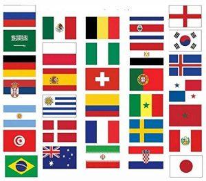 Generic Coupe du monde de football 2018Drapeau Lot–Tous les 32Nations drapeaux de 3'X2' (90cm x 60cm) de la marque Generic image 0 produit