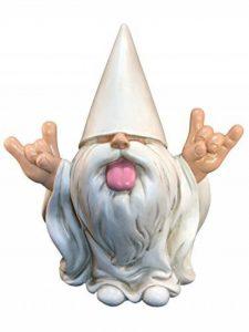 «George» le Nain Rocker – Ce nain de jardin va secouer votre mini monde enchanté – Par GlitZGlam (25,4 cm de haut) de la marque GlitZGlam image 0 produit