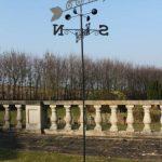 Girouette canards en acier avec mât et fixation murale de la marque Olive Grove image 1 produit