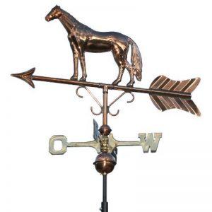 Girouette cheval Wetterhahn Linneborn 3D, fermeture Carillon à vent en cuivre avec indicateur de direction de la marque Linneborn Metallwaren GmbH image 0 produit