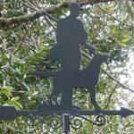 Girouette en fer forgé, motif chasseur de la marque AUBRY-GASPARD image 3 produit