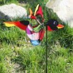 Girouette - Magic BIRD - résiste aux UV et aux intempéries - Ø38cm, Motif : 53x10cm Hauteur totale : 103cm - incl. Tige en fibre de verre de la marque IMC Networks image 2 produit