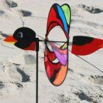 Girouette - Magic BIRD - résiste aux UV et aux intempéries - Ø38cm, Motif : 53x10cm Hauteur totale : 103cm - incl. Tige en fibre de verre de la marque IMC Networks image 1 produit