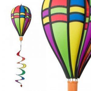 Girouette Mongolfiére - Satorn Balloon TWISTER RETRO - résiste aux intempéries - Ballon:Ø23cm x 37cm, Spirale: Ø10 cm x 75cm - accrochage inclus de la marque IMC Networks image 0 produit