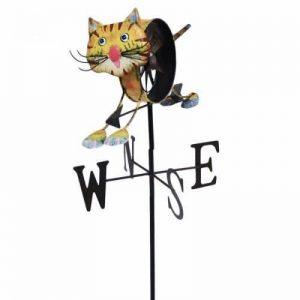 Girouette moulin à vent Chat + mat de la marque KOOPMAN image 0 produit