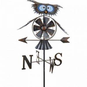 Girouette moulin à vent Hibou + mat de la marque KOOPMAN image 0 produit