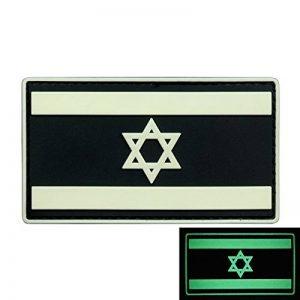 Glow Dark Israel Drapeau IDF Morale Tactical Star David Armée PVC Gomme 3D Touch Fastener Écusson Patch de la marque 2AFTER1 image 0 produit