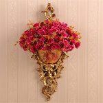 GMM Tenture murale pendentif mur vase fleur panier mode floral jardin maison décorations murales décorations murales floral,B de la marque GMM image 4 produit