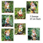 GMMH 50003–7Sept Nains Nain de design 7, 37cm, nain de jardin Figurines Décoration de la marque GMMH image 1 produit