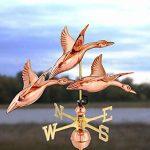 Good Directions 283et canards in flight Weathervane, Pure Copper de la marque Good Directions image 2 produit