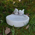 Grand abreuvoir avec 2 oiseaux fonte en pierre résistant au gel de la marque gartendekoparadies.de image 4 produit