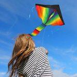 Grand cerf-volant, jeu de plein air – prêt à voler – parfait pour les enfants, vole bien – léger et solide – 100% satisfait ou remboursé de la marque aGreatLife image 2 produit