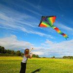 Grand cerf-volant, jeu de plein air – prêt à voler – parfait pour les enfants, vole bien – léger et solide – 100% satisfait ou remboursé de la marque aGreatLife image 4 produit