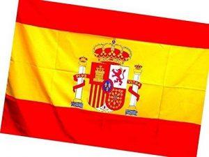 Grand drapeau de l'Espagne 140x 90cm-Drapeau de grande taille, à accrocher au balcon, à emmener dans la rue ou soutenir sélection espagnole de football. de la marque LAS COSAS QUE IMPORTAN image 0 produit