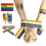 Grand LGBT Drapeau Polyester Durabol Homosexuel Rainbow Pride LGBT Lesbiennes Cylindriques pour le Jour de la Pride LGBT Drapeau Kit Rainbow Symbole Gays, Lesbiennes, L'amour est l'amour Parade 59 * 35inch Flag de la marque Sophko image 3 produit