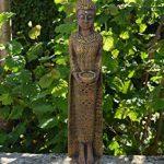 Grand moine bouddha en pierre fine couleur exklusiv en pierre coulée Résistance au froid de la marque gartendekoparadies.de image 3 produit