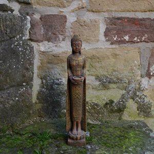 Grand moine bouddha en pierre fine couleur exklusiv en pierre coulée Résistance au froid de la marque gartendekoparadies.de image 0 produit