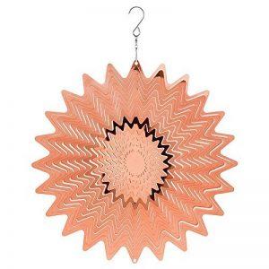 Grand moulin à vent en métal Attrape soleil à suspendre pour décoration de jardin cuivre Miroir 30,5cm de la marque SC Gifts image 0 produit