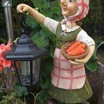Grand-mère Edeltraud avec lanterne solaire jardin figurine Figurine Europe Lanterne solaire jardin de la marque Unbekannt image 2 produit