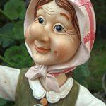 Grand-mère Edeltraud avec lanterne solaire jardin figurine Figurine Europe Lanterne solaire jardin de la marque Unbekannt image 4 produit
