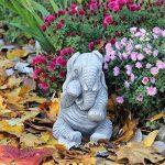 Grande Elephant Trunk Down Statue de jardin Handcast Décor de la marque World Of Stone image 2 produit