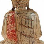 Grande en bois Bouddha Thaï assis figurine Ornement Doré Orange détail de la marque GW image 1 produit