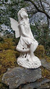 Grande Fonctionne à l'énergie solaire Fairy Secret Garden Ornement Résine figurine Ange Statue de la marque Home and Garden Products image 0 produit