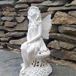 Grande Fonctionne à l'énergie solaire Fairy Secret Garden Ornement Résine figurine Ange Statue de la marque Home and Garden Products image 3 produit