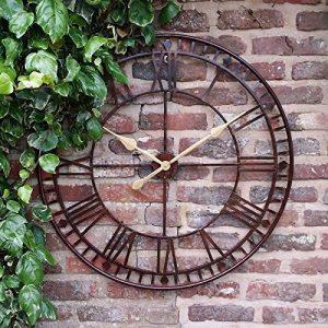 Grande horloge murale de jardin géant Big Face Open chiffres romains 80 cm de la marque Westminster image 0 produit