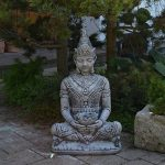 Grande Pierre Thai Bouddha Porte Wächter foncé-Gris massif en pierre Fonte au gel de la marque gartendekoparadies.de image 2 produit